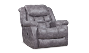 Blockbuster Pewter Power Rocker Recliner