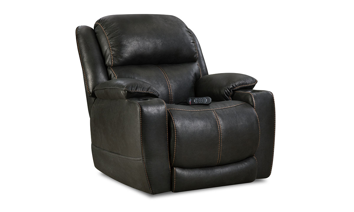 Starship Black Power Theatre Recliner with Power Headrest
