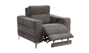Minori Grey Power Recliner with Power Headrest