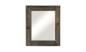 Abington Rustic Pine & Iron Portrait Mirror