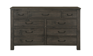 Abington Rustic Pine & Iron 9-Drawer Dresser