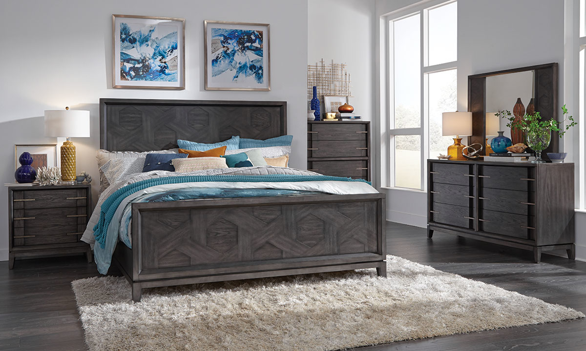 Proximity Heights Smoke Contemporary Bedroom Sets Queen King The Dump Luxe Furniture Outlet