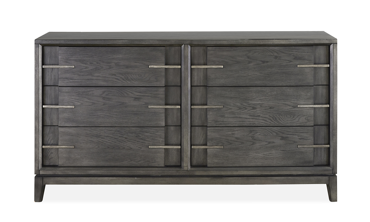 Proximity Heights Smoke Contemporary 6-Drawer Dresser