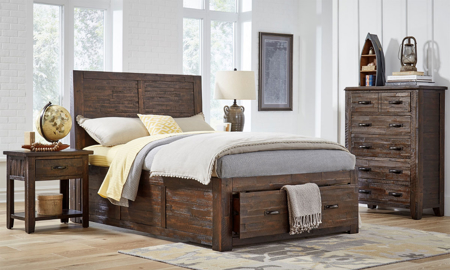 Jackson Lodge Rustic Youth Storage Bedroom Sets