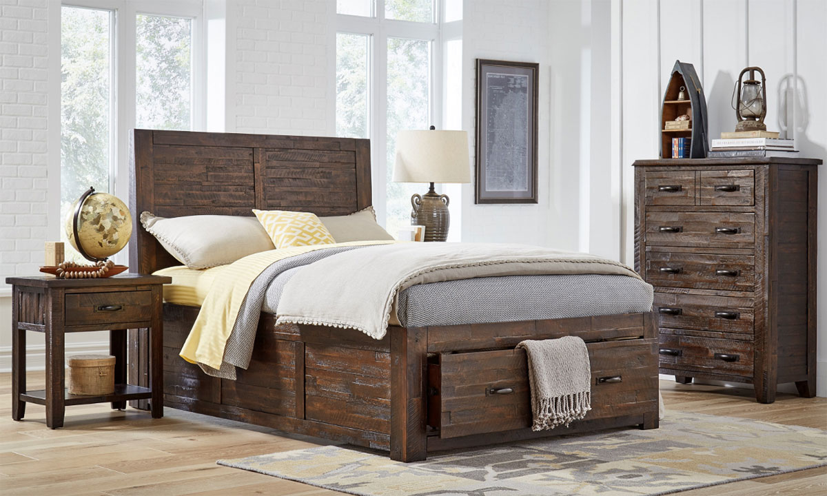 Jackson Lodge Rustic Youth Storage Beds