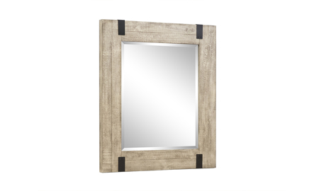 Radcliffe Sanibel Pine & Iron Portrait Mirror