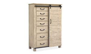 Radcliffe Sanibel Pine & Iron Sliding Door Chest