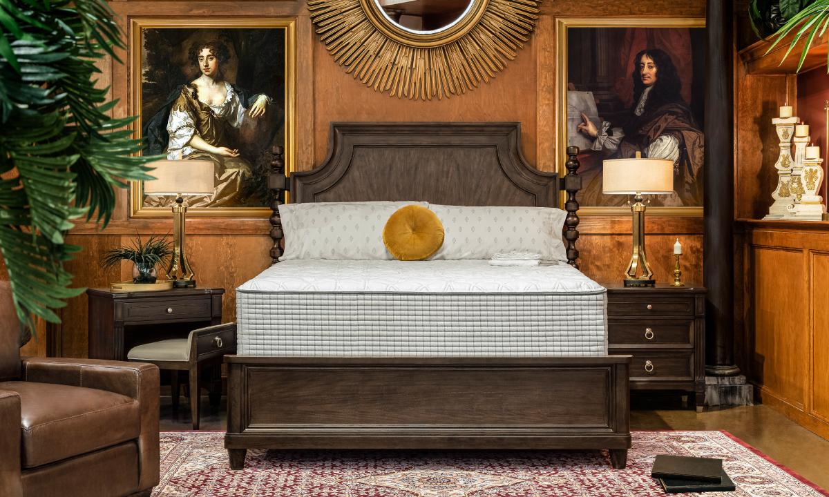 """Restonic 13"""" Biltmore Tight Top Hybrid Mattresses with Foundations"""
