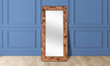 Rajastan Handcrafted Solid Wood Chevron Mirror