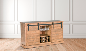 Sunny Designs Driftwood Wine Server TV Console