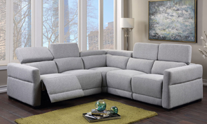 Isla Grey Dual Power Reclining Sectional