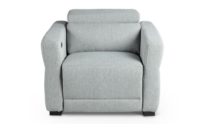 Isla Grey Power Recliner with Power Headrest