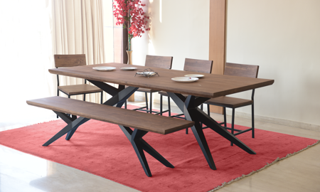 Airloft Modern Acacia Wood 6-Piece Dining Set