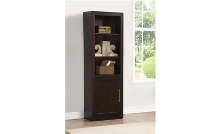 Greenwich Walnut Bookcase with Cabinet
