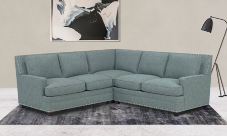 Carolina Custom Noland 3-Piece Sectional Sea Blue