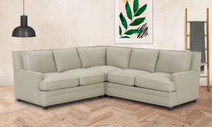Carolina Custom Noland 3-Piece Sectional Flax