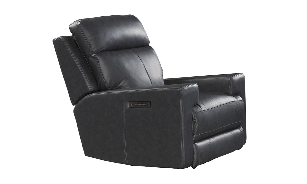 Solana Space Grey Leather Power Recliner