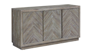Herringbone Acacia Wood Sideboard