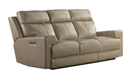 Solana Moon Leather Power Reclining Sofa