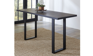 Hudson Oak and Steel Counter Height 5-Piece Dining Set