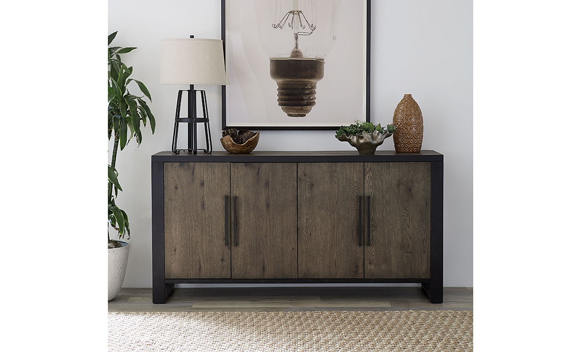 Hudson Oak and Steel Sideboard