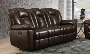 Liza Brown Leather Dual Reclining Sofa