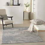 Picture of Rustic Textures RUS15 Light Grey/Blue