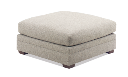 Carolina Custom Holloway Ottoman Warm Grey