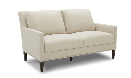 Bella Beige Contemporary Loveseat