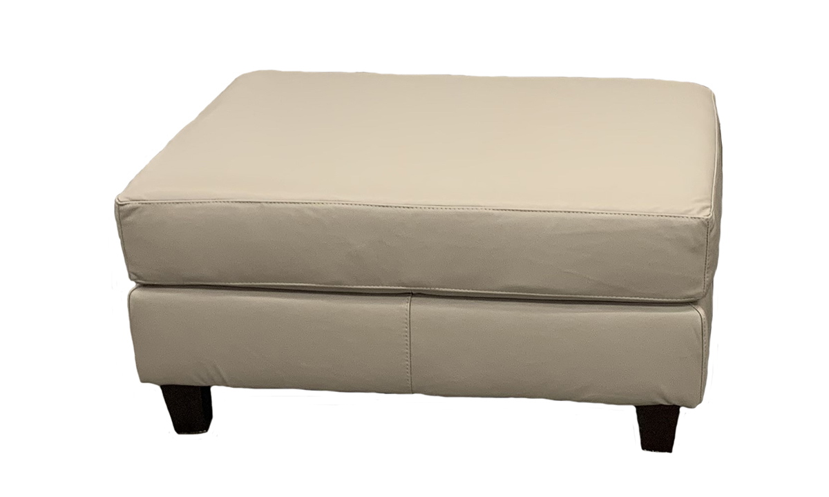 Rocky Mountain Leather Biscotti Top Grain Leather Cocktail Ottoman
