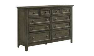 San Mateo Grey 10-Drawer Dresser