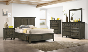 San Mateo Grey Storage Bedroom Sets