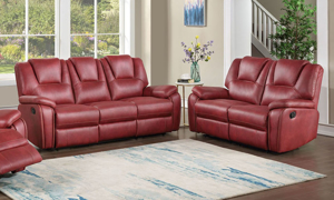 Katrine Red Reclining 2-Piece Living Room Set