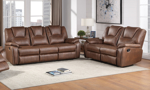 Katrine Chestnut Reclining 2-Piece Living Room Set