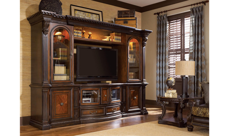 Grand Estates Entertainment Wall Unit