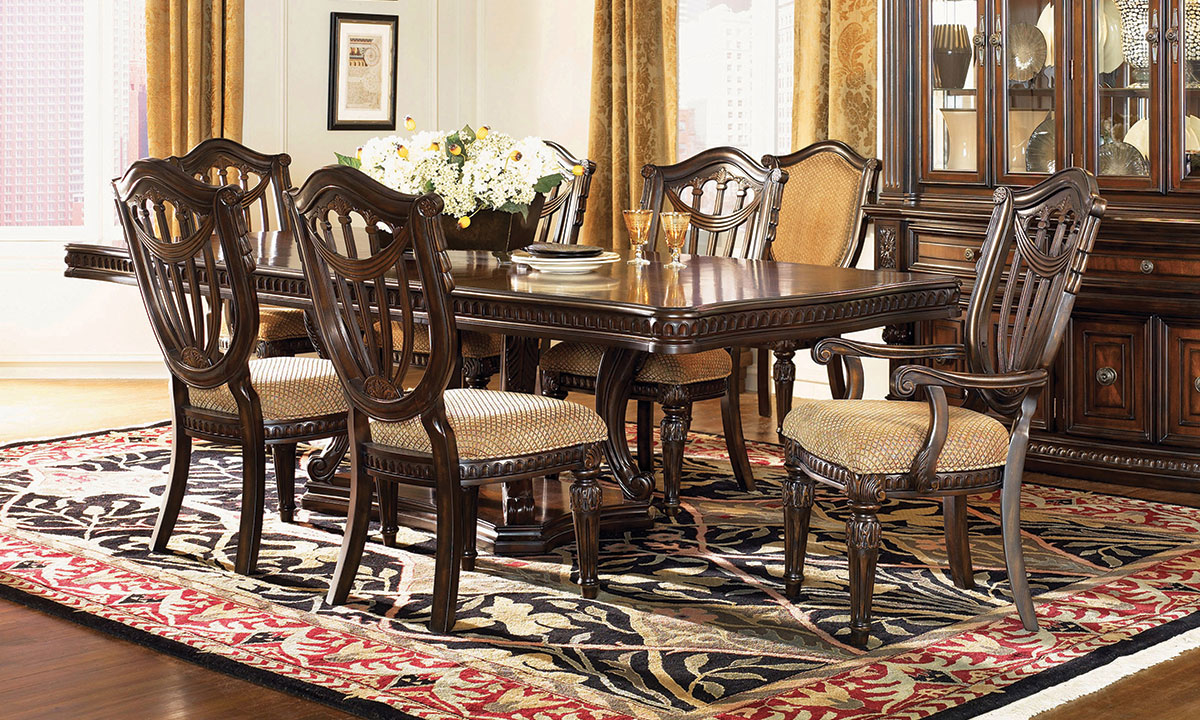 Picture of Grand Estates I 5-Piece Dining Set with Wood Side Chairs