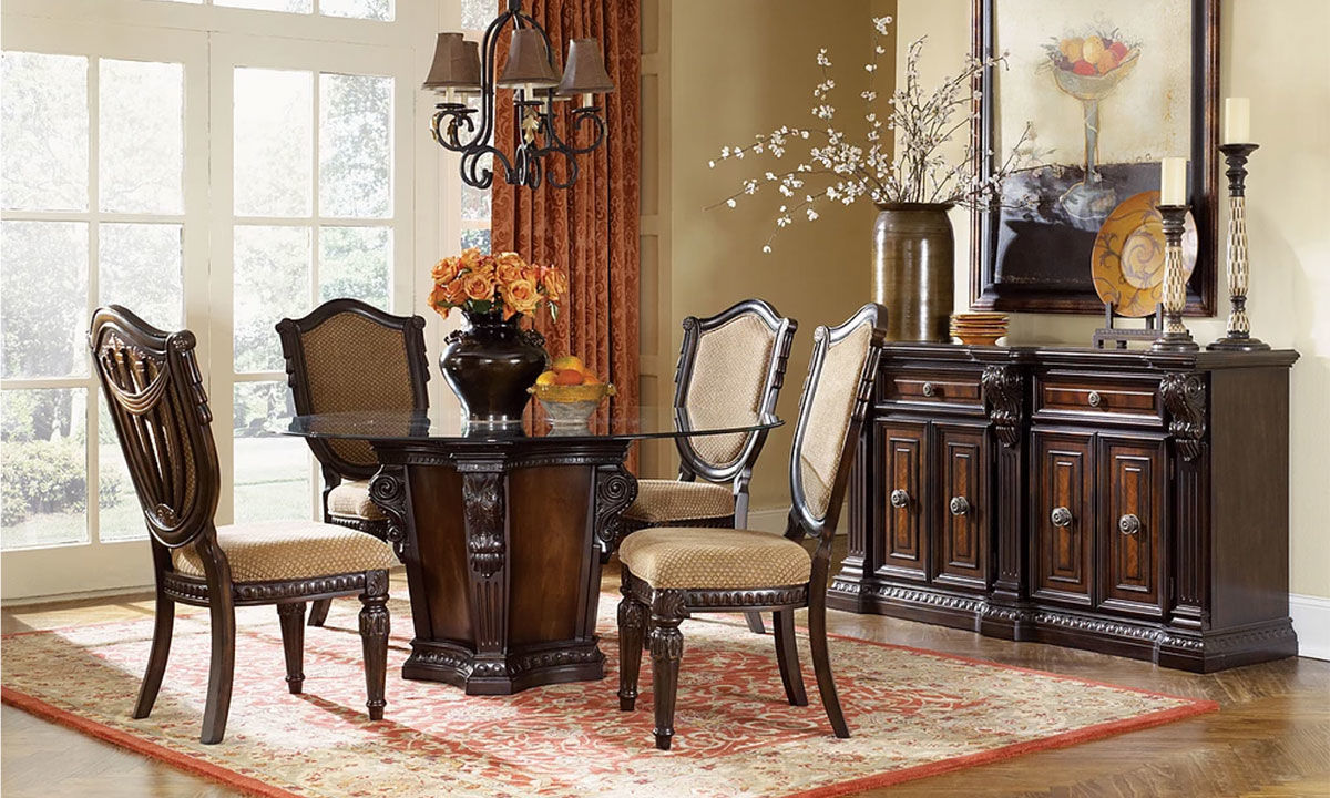 Picture of Grand Estates II 5-Piece Dining Set with Upholstered Side Chairs