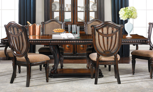 Grand Estates II 5-Piece Dining Set with Upholstered Side Chairs