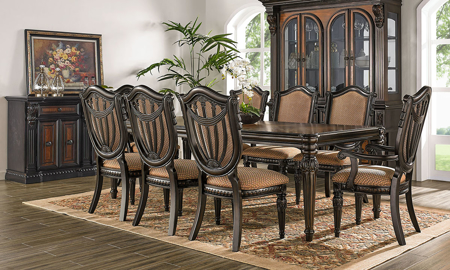 Grand Estates III 5-Piece Dining Set with Upholstered Side Chairs