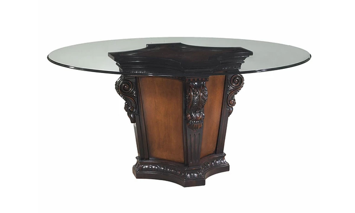 Grand Estates II Round Glass Top Dining Table