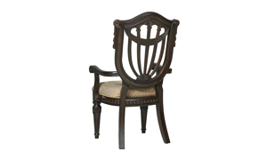 Grand Estates Wood Shield Arm Chair