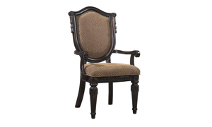 Grand Estates Upholstered Shield Arm Chair
