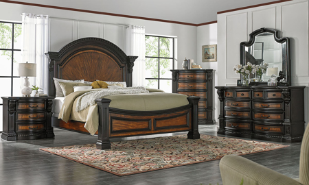 Grand Estates Arched Panel Bedroom Sets