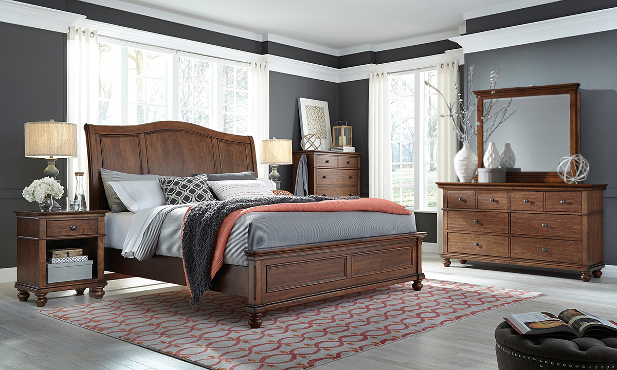 Oxford Whiskey Sleigh Bedroom Sets