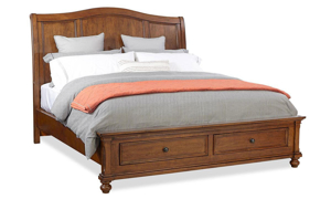 Oxford Whiskey Sleigh Storage Bedroom Sets