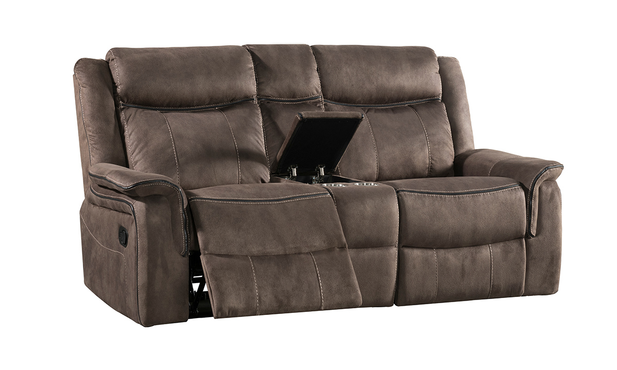 Picture of Kisner Mink Dual Reclining Console Loveseat