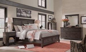 Oxford Peppercorn Panel Storage Bedroom Sets