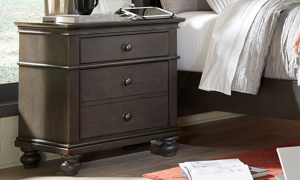 Oxford Peppercorn 2-Drawer Nightstand