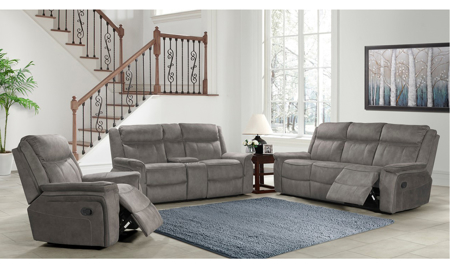 Kisner Grey Manual Recliner