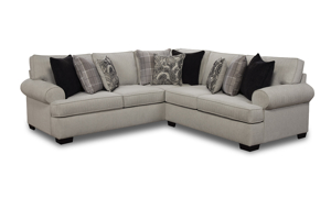 Fabric sectional made in the USA from Behold Home.